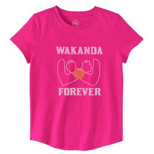 Wakanda Forever Girls Warrior Rhinestone Tee