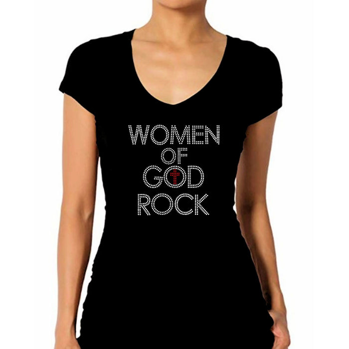Women Of God Rock Rhinestone T-Shirt
