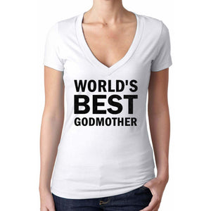 World's Best Godmother Glitter T Shirt