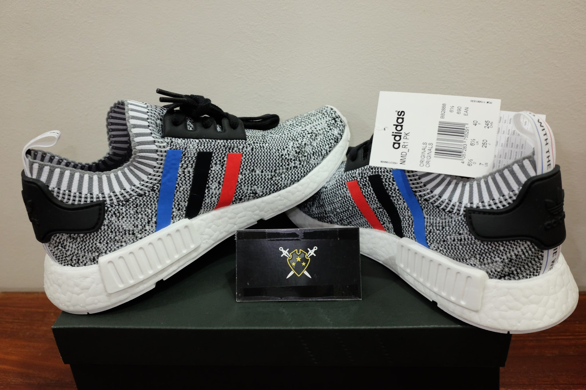 8251bd027c7d1 ... Tri-Color White   adidas Originals NMD R1 Primeknit DarkSole.net (2) ...