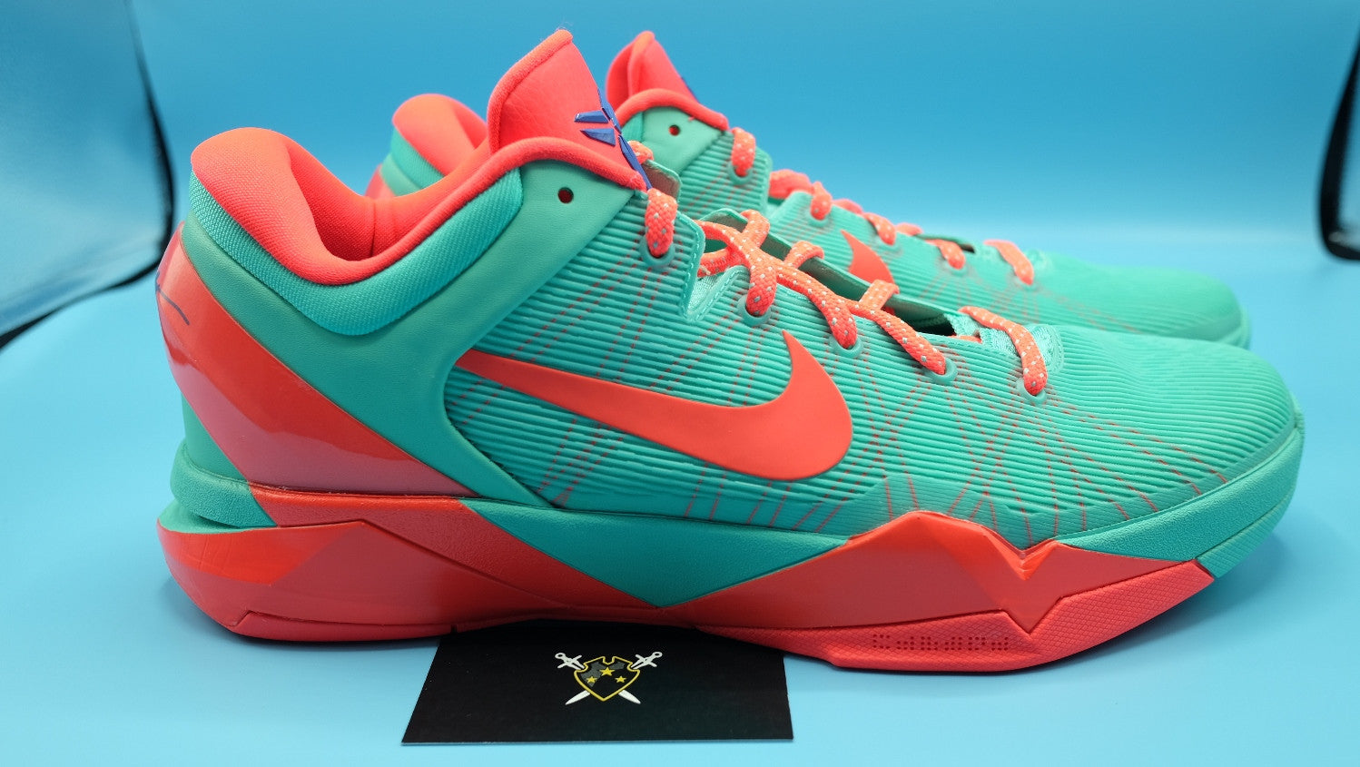 sports shoes 3b969 0c8fa ... Nike Zoom kobe 7   FC Barcelona Blue Teal DarkSole.net (1) ...