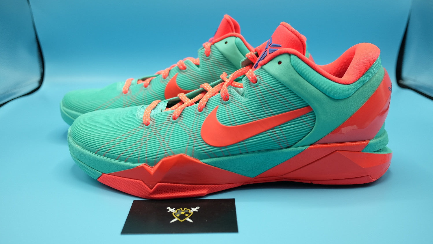 huge selection of c5c1b 90efd ... Nike Zoom kobe 7   FC Barcelona Blue Teal DarkSole.net (3) ...