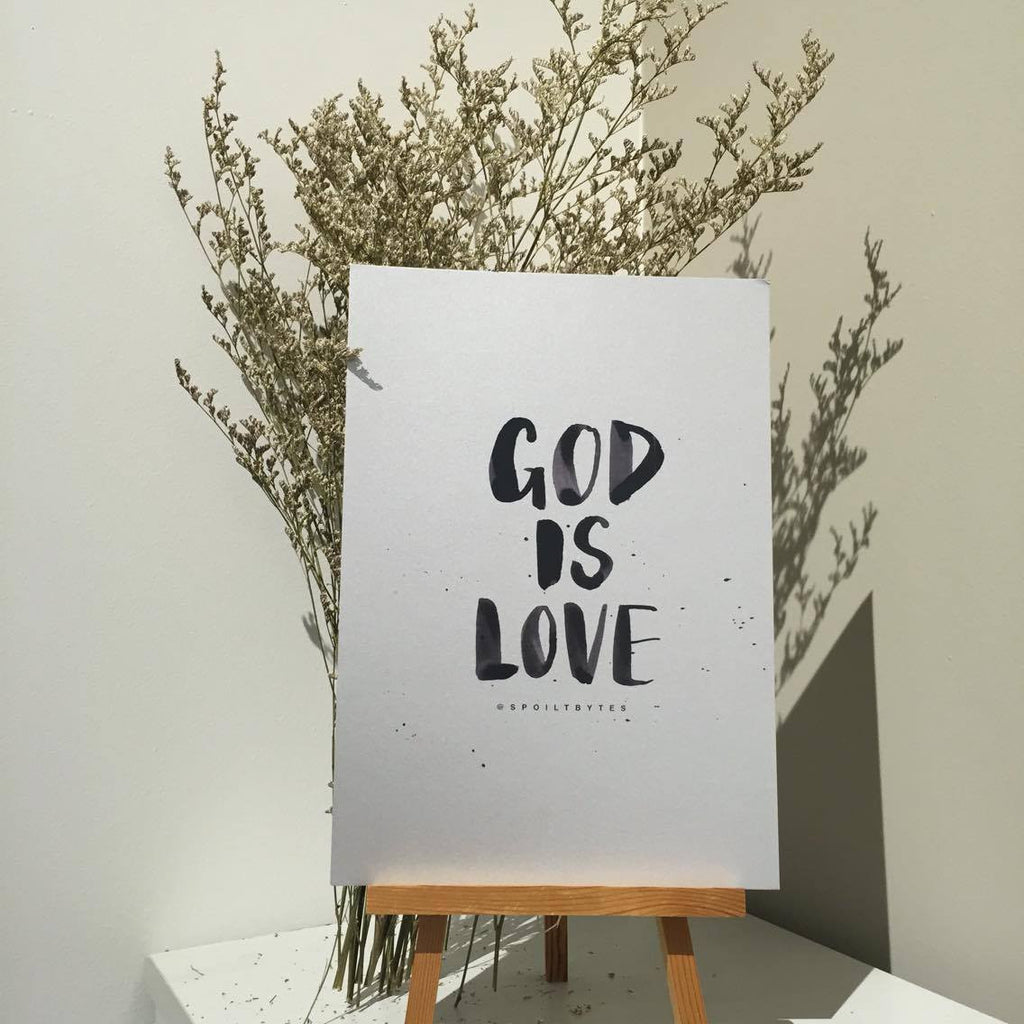 Poster - God is love