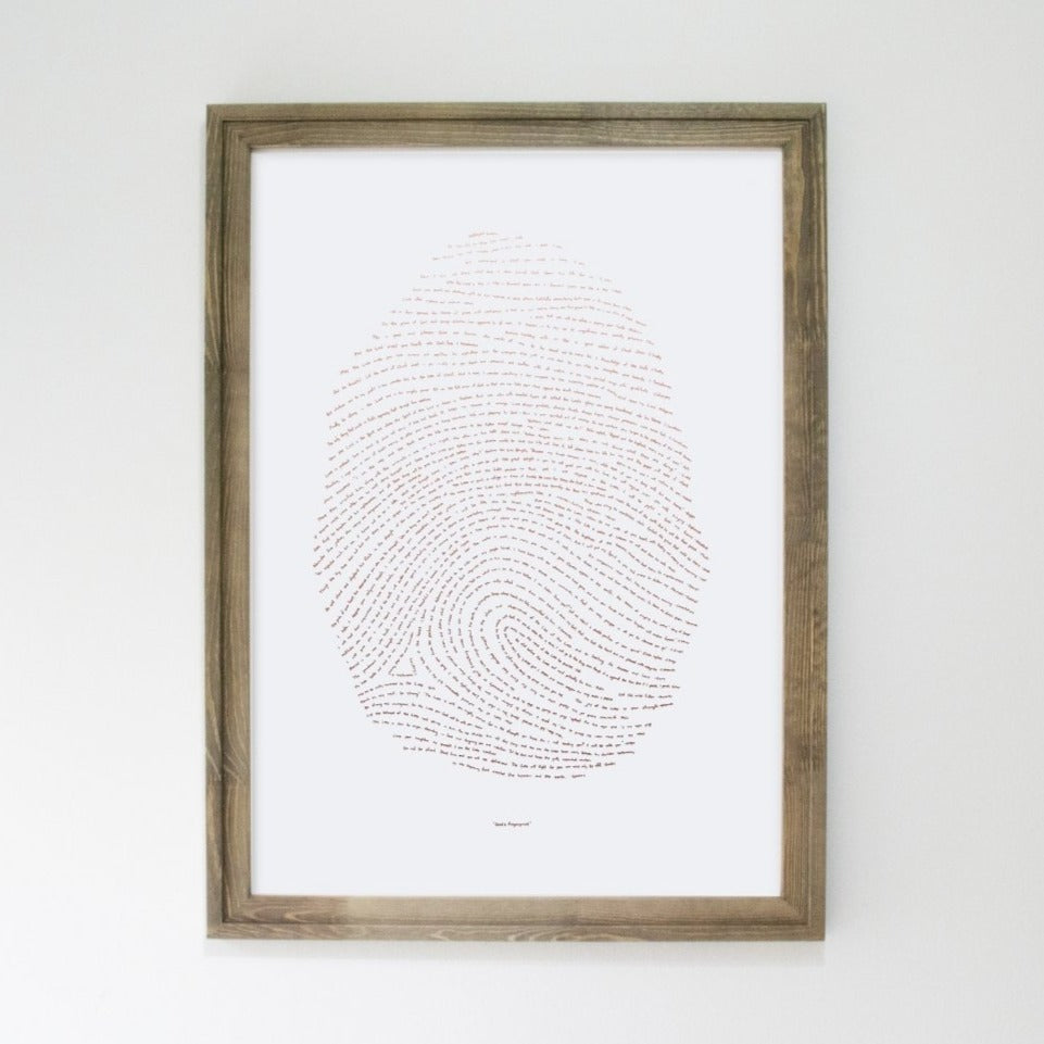 "Illuminated Fingerprint - Rose Gold 18"" by 24"""