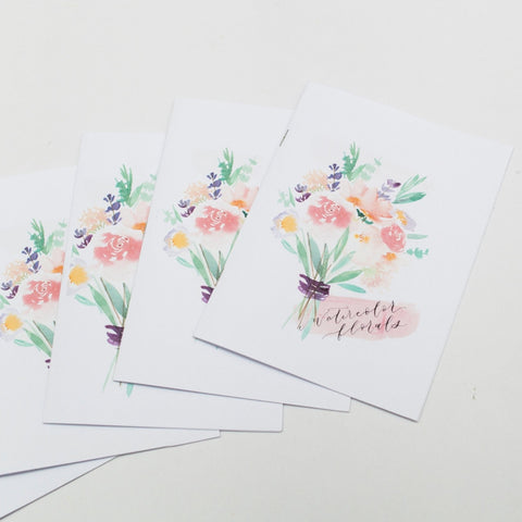 12 Dec (Saturday,  11am - 1pm) Workshop - Watercolour Florals by Kristen Kiong
