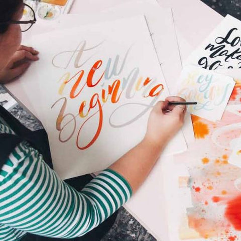 22 June 2019 (Saturday 10.30am - 1.30pm ) Workshop - Brush Calligraphy By THE LETTER J SUPPLY (2 pax)