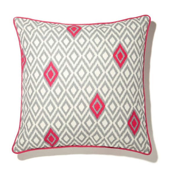 Cushion - Decree Grey and Fushia