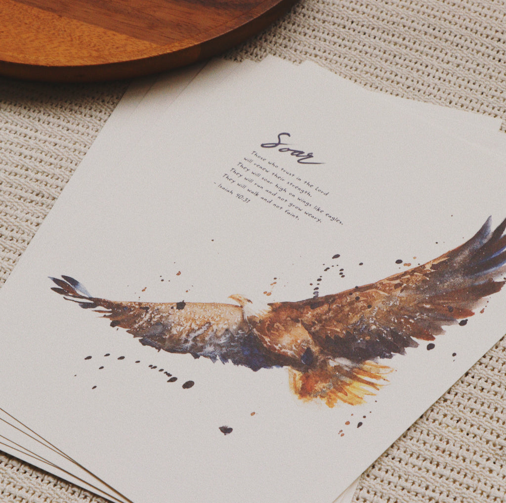 A5 Print: Soar On Wings like Eagle (Isaiah 40:31)