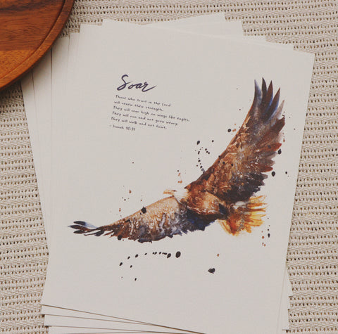 A4 Print: Soar On Wings Like Eagles (Isaiah 40:31)