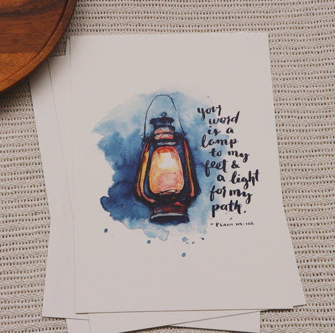 A4 Print: Lamp To My Feet (Psalm 119:105)