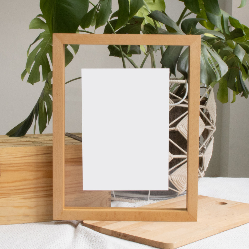 A3 Floating Frame Without Artwork (Light Wood)