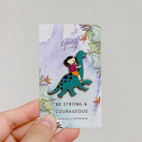 Be Strong and Courageous | Brooch