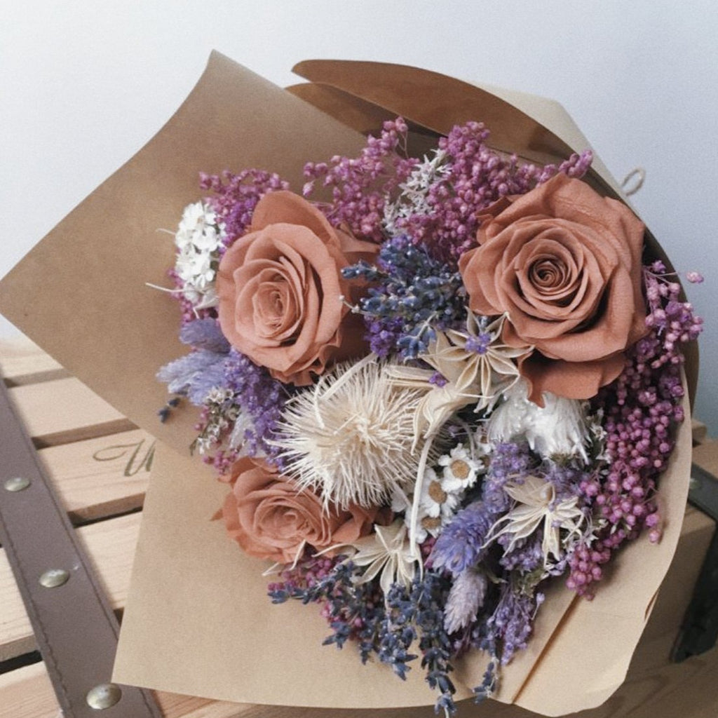 UPGRADE to Lux Preserved Rose Bouquet