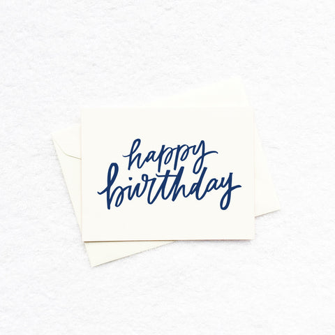 Card - Happy Birthday (Navy)
