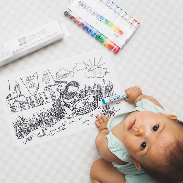 Baby Moses | Silicon Colouring Mat