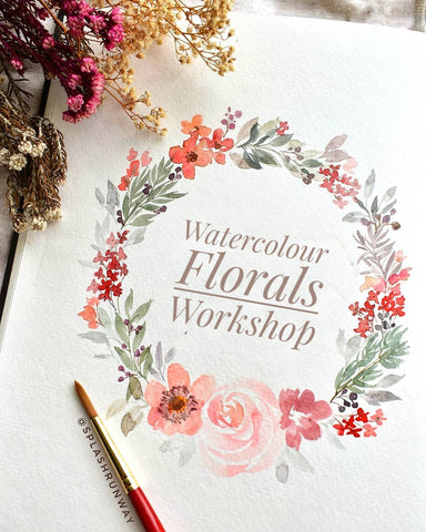 19 Dec 2018 Workshop - WaterColour Florals by SPLASHRUNWAY