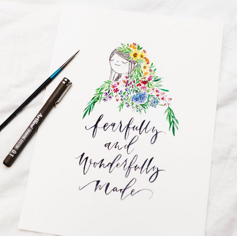 A4 Poster: Fearfully & Wonderfully Made