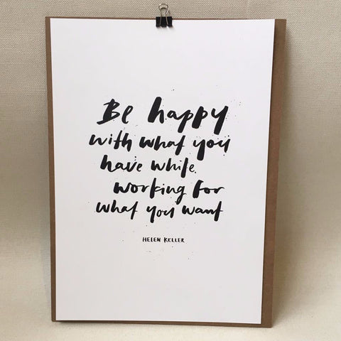 Poster - be happy