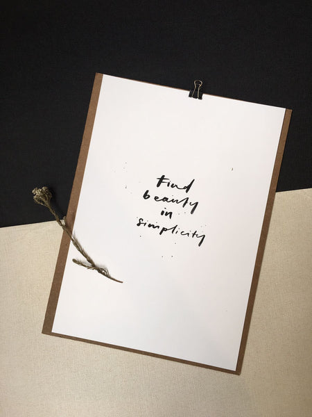 Poster - find beauty