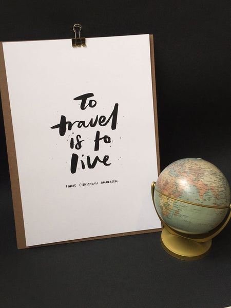 Poster - to travel