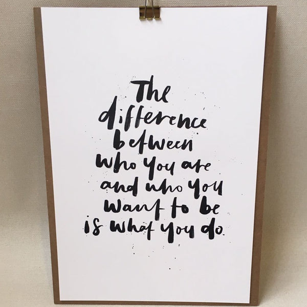 Poster - the difference