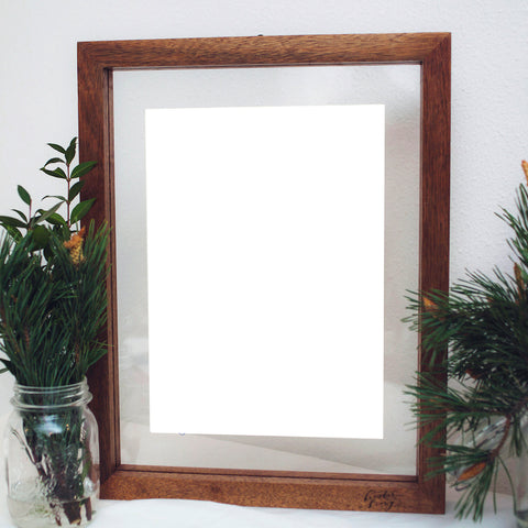A3 Floating Frame Without Artwork (Dark Wood)