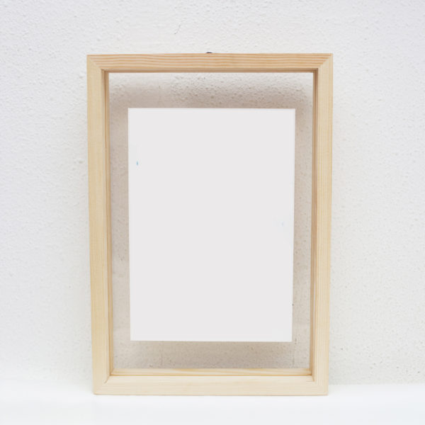 A5 Floating Frame Without Artwork (Pine Solid Wood)