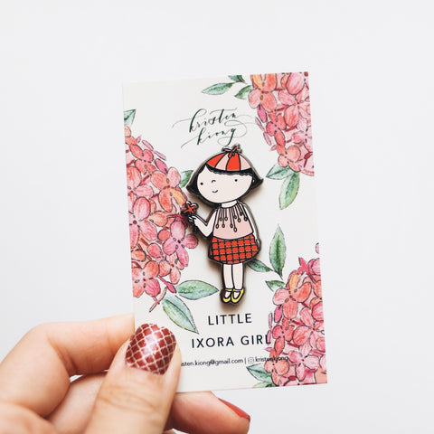 Little Ixora Girl | Brooch