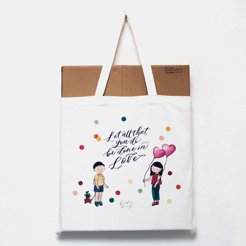 Done In Love Tote Bag