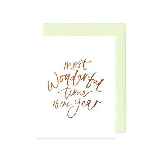 Mint & Ordinary: Most Wonderful Time of the Year Card