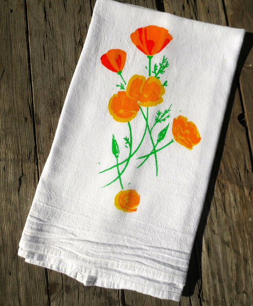 California Poppy Flour Sack Towel