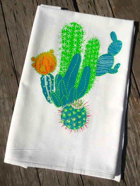 Cactus and Succulent Flour Sack Towel