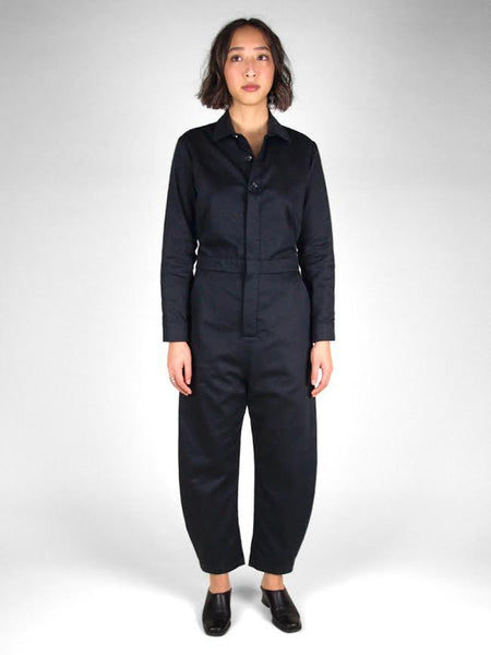 Yaki Long Sleeve Coverall / Black Twill