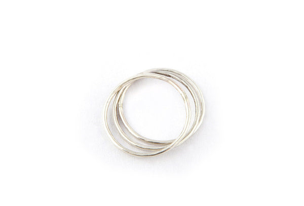 Hammered 1mm Ring / Silver
