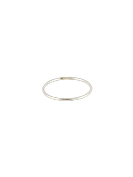 Smooth 1mm Ring / Silver