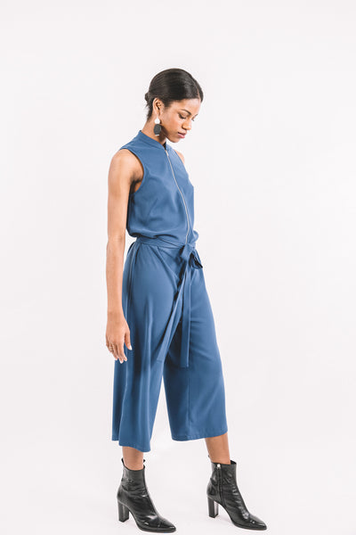 Dixon Jumpsuit / Blue Georgette