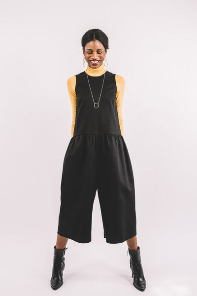 Louise Jumpsuit / Black Twill