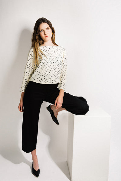 Port Blouse / Dot Crepe