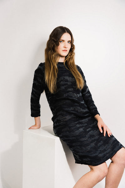 Port Dress / Black Jacquard