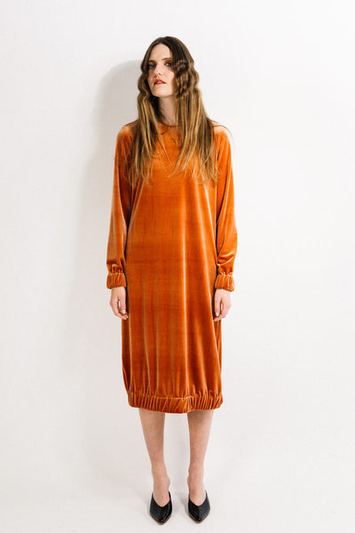 Bridge Dress / Copper Velvet