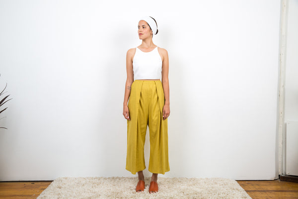 Alfred Pants / Yellow Washed Cotton