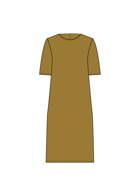 Park Dress / Gold Silk