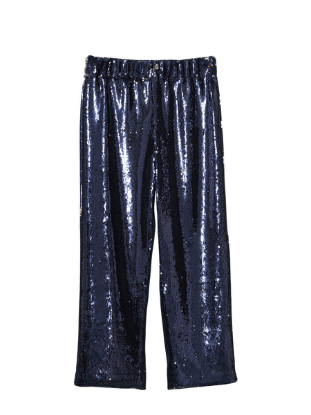Deck Pants / Navy Sequins