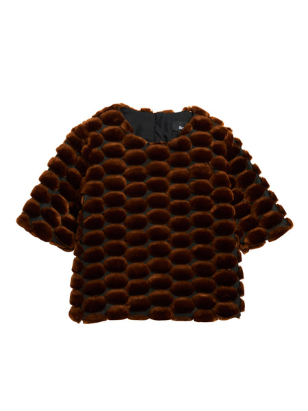 Salon Top / Dot Faux Fur