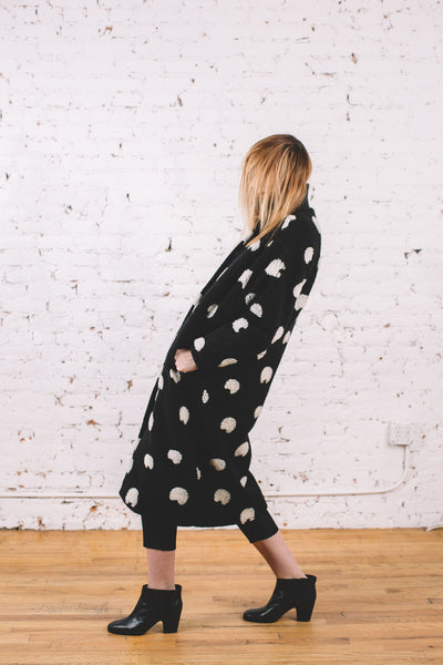 Blob Coat / Spotted Wool