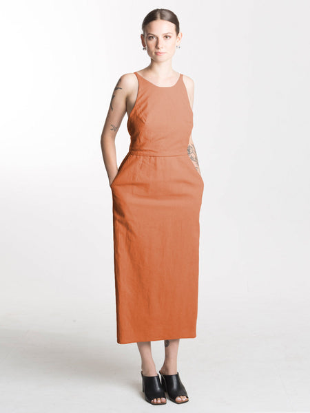 Copra Dress / Rust Combed Cotton