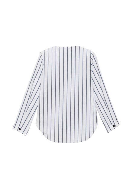 Fowler Top / Navy Stripe Cotton