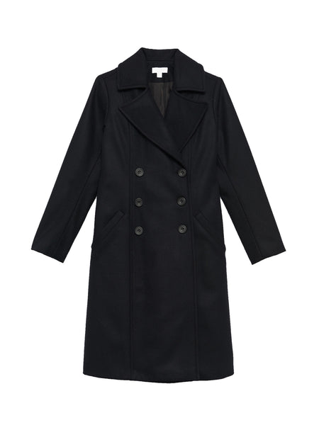 Nina Coat / Black Wool Melton