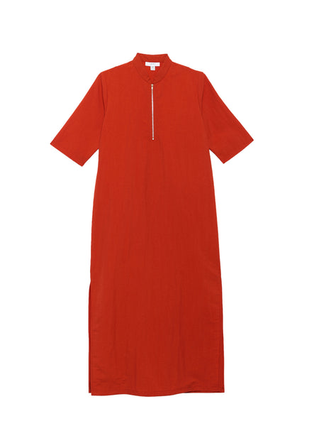 Percy Dress / Orange Poplin
