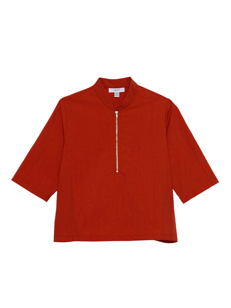 Percy Top / Orange Poplin